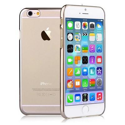 Microsonic Metalik Transparent Iphone 6 (4.7'') Kılıf Altın Sarısı Cep Telefonu Kılıfı