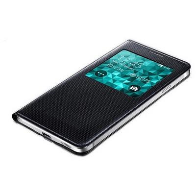 Microsonic View Cover Delux Kapaklı Samsung Galaxy Alpha Akıllı Modlu Kılıf Sarı Cep Telefonu Kılıfı