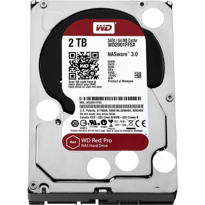 WD Red Pro 2TB NAS Hard Disk - WD2001FFSX