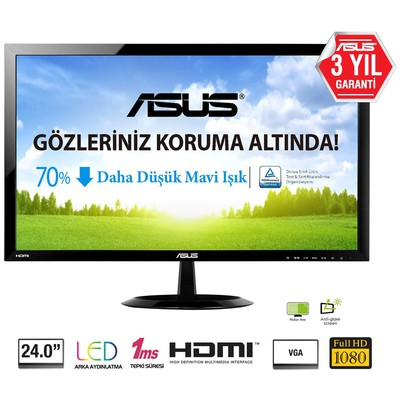 "Asus VX248H 24"" 1ms Full HD Monitör"