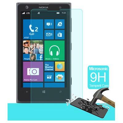 Microsonic Temperli Cam Ekran Koruyucu Nokia Lumia 1020 Kırılmaz Film Ekran Koruyucu Film