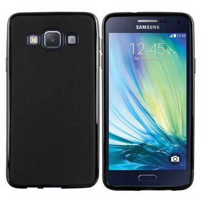 Microsonic Transparent Soft Samsung Galaxy A5 Kılıf Siyah Cep Telefonu Kılıfı