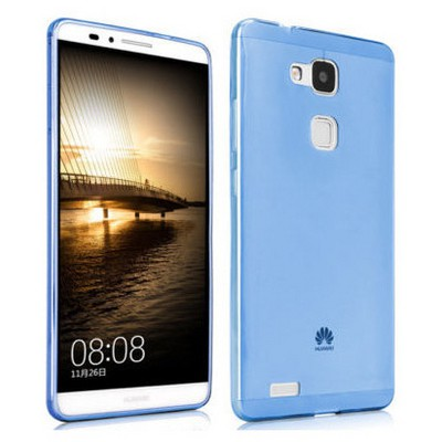 Microsonic Transparent Soft Huawei Ascend Mate 7 Kılıf Mavi Cep Telefonu Kılıfı