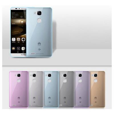 Microsonic Transparent Soft Huawei Ascend Mate 7 Kılıf Siyah Cep Telefonu Kılıfı