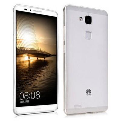 Microsonic Transparent Soft Huawei Ascend Mate 7 Kılıf Beyaz Cep Telefonu Kılıfı