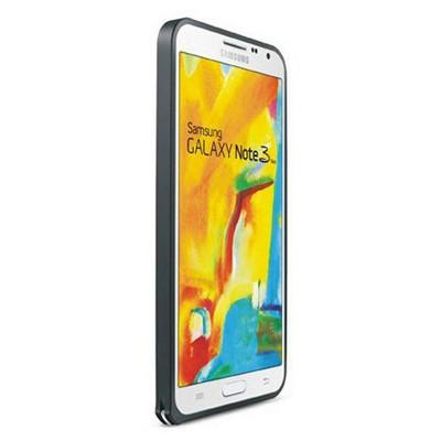 Microsonic Samsung Galaxy Note 3 Neo Thin Metal Bumper Çerçeve Kılıf Siyah Cep Telefonu Kılıfı