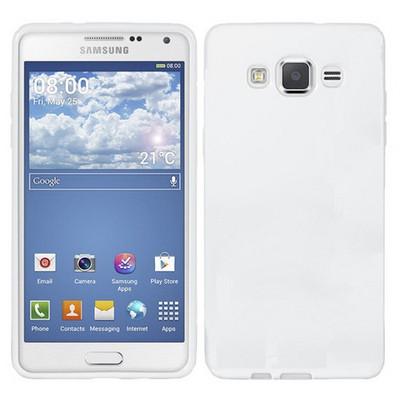 Microsonic Glossy Soft Samsung Galaxy Grand Prime Kılıf Beyaz Cep Telefonu Kılıfı