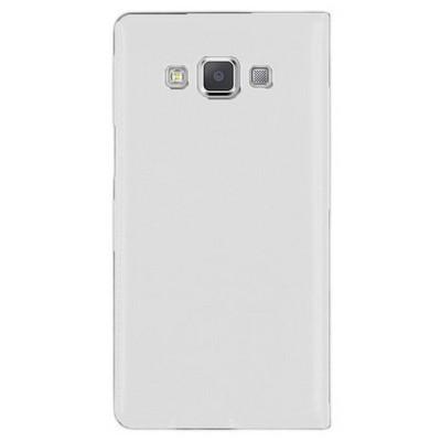 Microsonic View Slim Kapaklı Deri Samsung Galaxy A5 Kılıf Beyaz Cep Telefonu Kılıfı