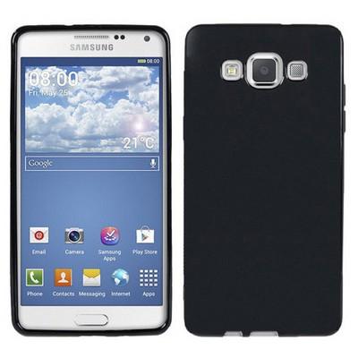 Microsonic parlak Soft Samsung Galaxy A5 Kılıf Siyah Cep Telefonu Kılıfı