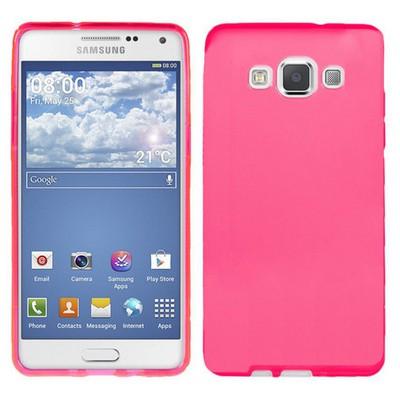 Microsonic parlak Soft Samsung Galaxy A3 Kılıf Pembe Cep Telefonu Kılıfı