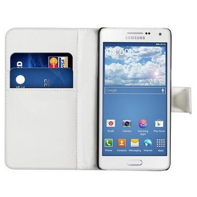 Microsonic Cüzdanlı Deri Samsung Galaxy A5 Kılıf Beyaz Cep Telefonu Kılıfı