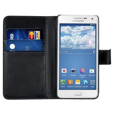Microsonic Cüzdanlı Deri Samsung Galaxy A5 Kılıf Siyah Cep Telefonu Kılıfı