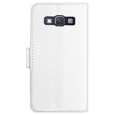 Microsonic Cüzdanlı Deri Samsung Galaxy A3 Kılıf Beyaz Cep Telefonu Kılıfı