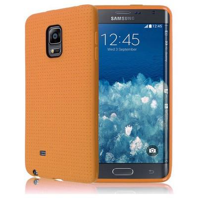 Microsonic Dot Style Silikon Samsung Galaxy Note Edge Kılıf Sarı Cep Telefonu Kılıfı