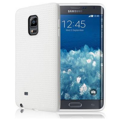 Microsonic Dot Style Silikon Samsung Galaxy Note Edge Kılıf Beyaz Cep Telefonu Kılıfı