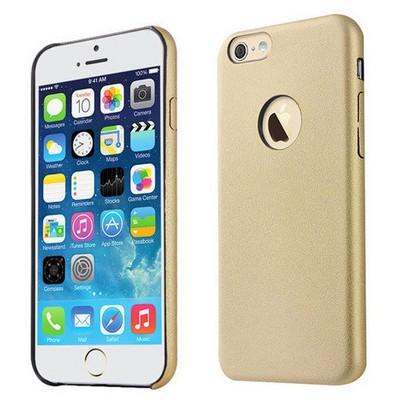 Microsonic Slim Leather Iphone 6 Plus (5.5'') Ince Deri Kılıf Altın Sarısı Cep Telefonu Kılıfı