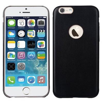Microsonic Slim Leather Iphone 6 Plus (5.5'') Ince Deri Kılıf Siyah Cep Telefonu Kılıfı