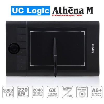 Uc-logic Ucmn853 Lapazz A5 Wide Siyah 2048 Kademe Basınç 5080lpi Grafik Tablet