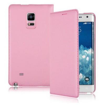 Microsonic Delux Kapaklı Samsung Galaxy Note Edge Kılıf Pembe Cep Telefonu Kılıfı