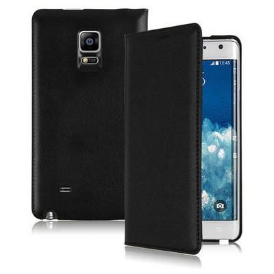 Microsonic Delux Kapaklı Samsung Galaxy Note Edge Kılıf Siyah Cep Telefonu Kılıfı