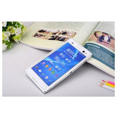 Microsonic Sony Xperia C3 Thin Metal Bumper Çerçeve Kılıf Gümüş Cep Telefonu Kılıfı