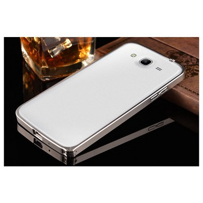 Microsonic Samsung Galaxy Grand Neo Thin Metal Bumper Çerçeve Kılıf Gümüş Cep Telefonu Kılıfı