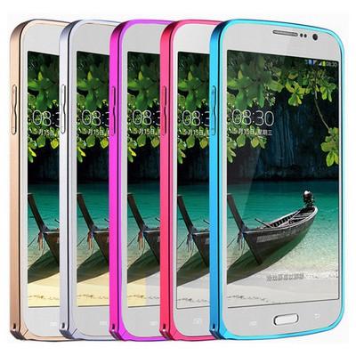 Microsonic Samsung Galaxy Grand Neo Thin Metal Bumper Çerçeve Kılıf Siyah Cep Telefonu Kılıfı