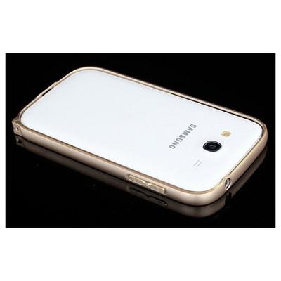 Microsonic Samsung Galaxy Grand I9082 Thin Metal Bumper Çerçeve Kılıf Sarı Cep Telefonu Kılıfı