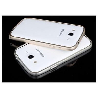 Microsonic Samsung Galaxy Grand I9082 Thin Metal Bumper Çerçeve Kılıf Gümüş Cep Telefonu Kılıfı