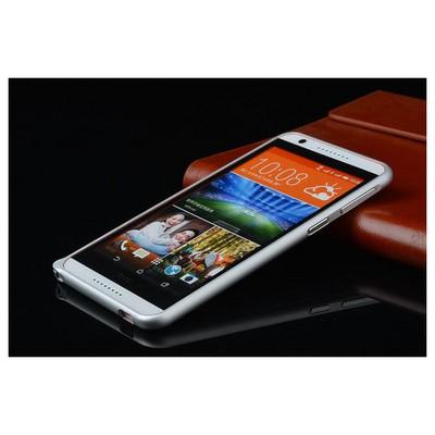Microsonic Htc Desire 820 Thin Metal Bumper Çerçeve Kılıf Gümüş Cep Telefonu Kılıfı