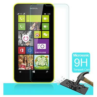Microsonic Temperli Cam Ekran Koruyucu Nokia Lumia 630 Kırılmaz Film Ekran Koruyucu Film