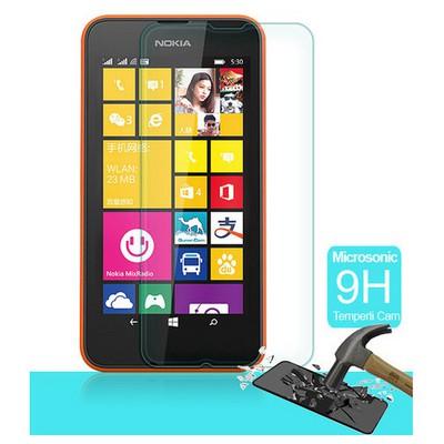 Microsonic Temperli Cam Ekran Koruyucu Nokia Lumia 530 Kırılmaz Film Ekran Koruyucu Film