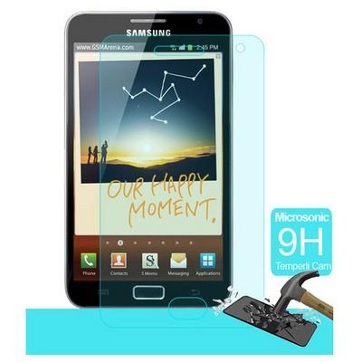 Microsonic Temperli Cam Ekran Koruyucu Samsung Galaxy Note N7000 Kırılmaz Film Ekran Koruyucu Film