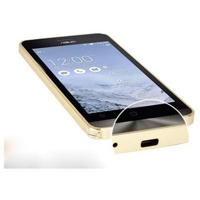 Microsonic Asus Zenfone 5 Thin Metal Bumper Çerçeve Kılıf Sarı Cep Telefonu Kılıfı