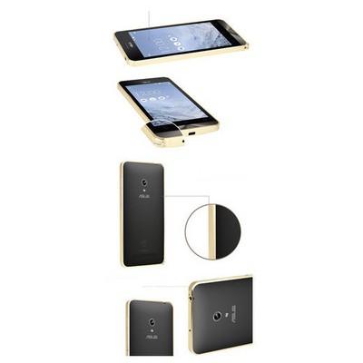 Microsonic Asus Zenfone 5 Thin Metal Bumper Çerçeve Kılıf Siyah Cep Telefonu Kılıfı