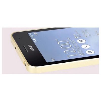 Microsonic Asus Zenfone 6 Thin Metal Bumper Çerçeve Kılıf Sarı Cep Telefonu Kılıfı
