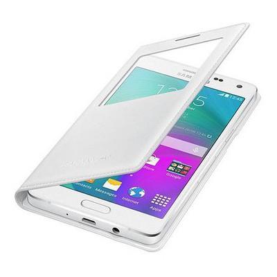 Microsonic View Cover Delux Kapaklı Samsung Galaxy A5 Kılıf Akıllı Modlu Beyaz Cep Telefonu Kılıfı