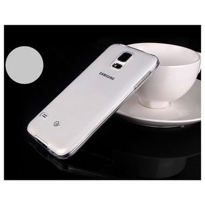 Microsonic Transparent Soft Samsung Galaxy S5 Kılıf Beyaz Cep Telefonu Kılıfı