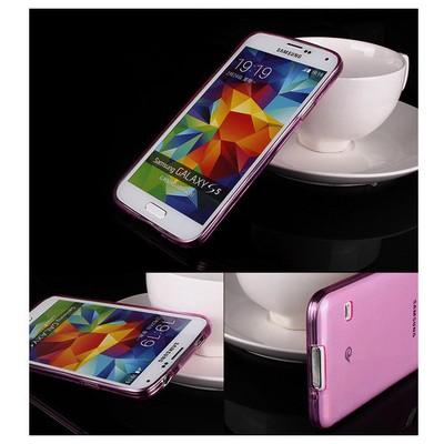 Microsonic Transparent Soft Samsung Galaxy S5 Kılıf Pembe Cep Telefonu Kılıfı