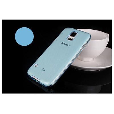 Microsonic Transparent Soft Samsung Galaxy S5 Kılıf Mavi Cep Telefonu Kılıfı