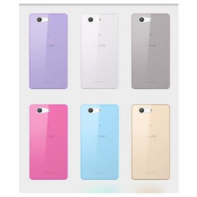 Microsonic Transparent Soft Sony Xperia Z3 Compact ( Z3 Mini) Kılıf Mavi Cep Telefonu Kılıfı