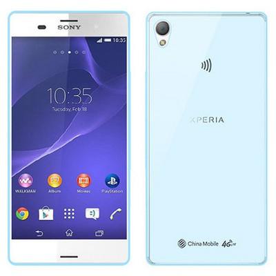 Microsonic Transparent Soft Sony Xperia Z3 Kılıf Mavi Cep Telefonu Kılıfı