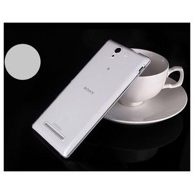 Microsonic Transparent Softsony Xperia C3 Kılıf Beyaz Cep Telefonu Kılıfı