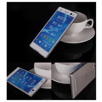 Microsonic Transparent Softsony Xperia C3 Kılıf Siyah Cep Telefonu Kılıfı