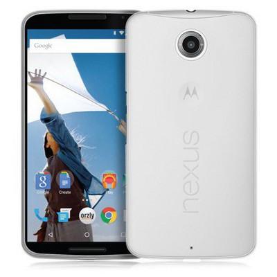 Microsonic Transparent Soft Motorola Nexus 6 Kılıf Beyaz Cep Telefonu Kılıfı