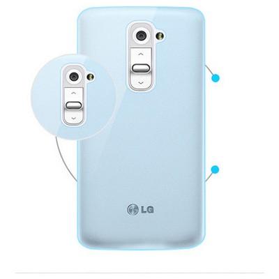 Microsonic Transparent Soft Lg G2 Mini Kılıf Mavi Cep Telefonu Kılıfı