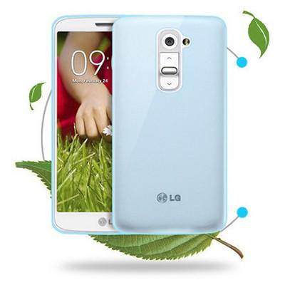 Microsonic Transparent Soft Lg G2 Kılıf Mavi Cep Telefonu Kılıfı