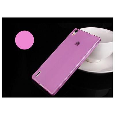 Microsonic Transparent Soft Huawei Ascend P7 Kılıf Pembe Cep Telefonu Kılıfı