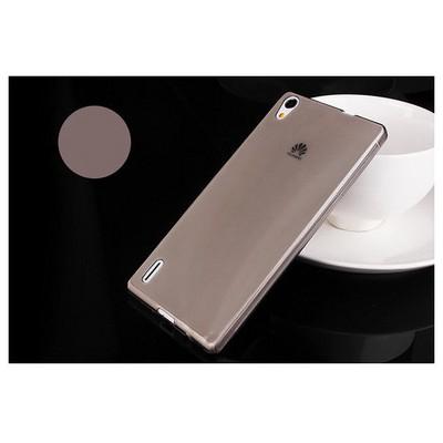 Microsonic Transparent Soft Huawei Ascend P7 Kılıf Siyah Cep Telefonu Kılıfı