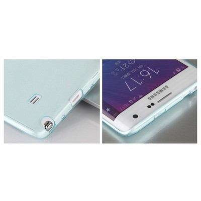 Microsonic Transparent Soft Samsung Galaxy Note Edge Kılıf Mavi Cep Telefonu Kılıfı